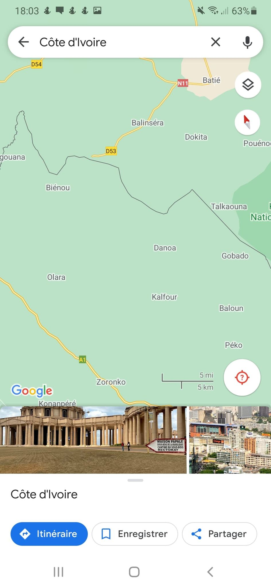 nos recherches révèlent qu'il s'agit de la zone frontalière du côté nord-est de la Côte d'Ivoire vers Doropo, Téhi et Bouna