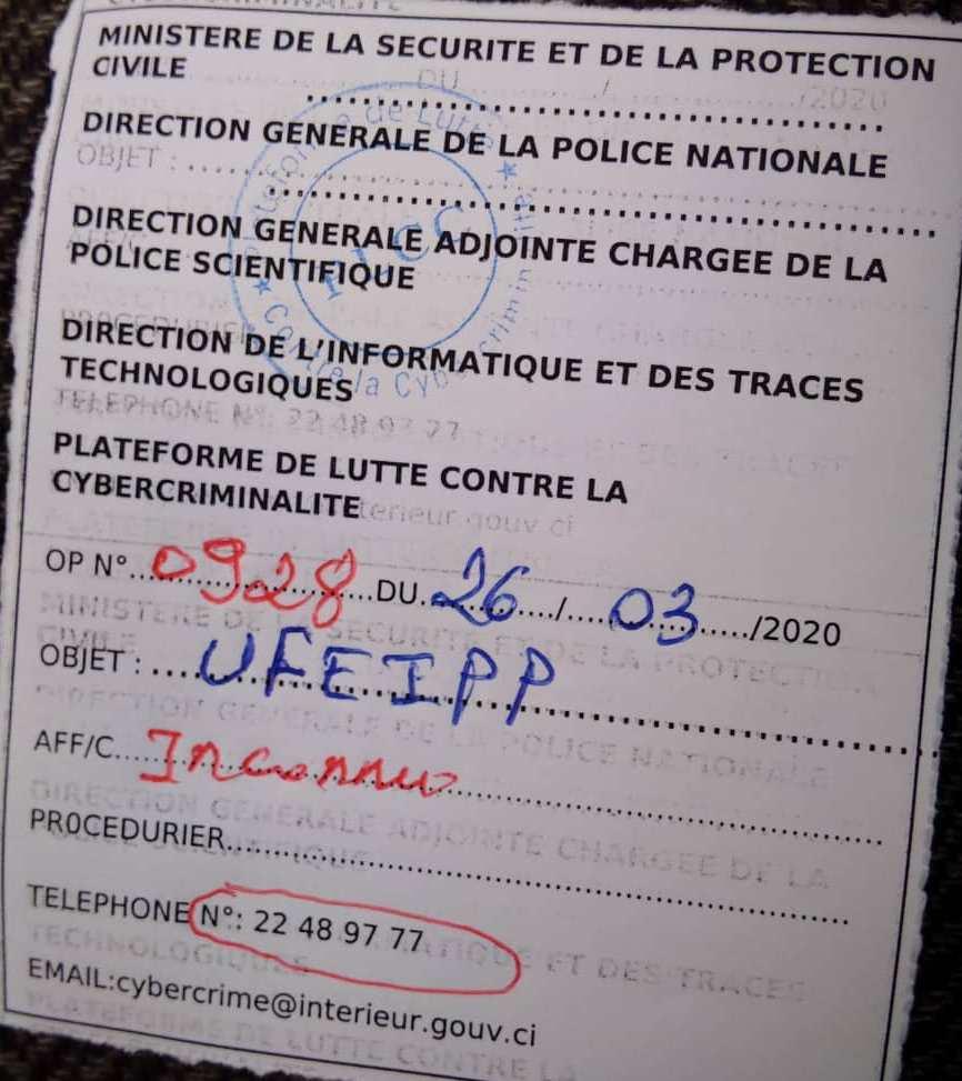 [''Affaire liste des autorités ivoiriennes atteintes du coronavirus''] Yavo Yavo Guy porte plainte contre inconnu
