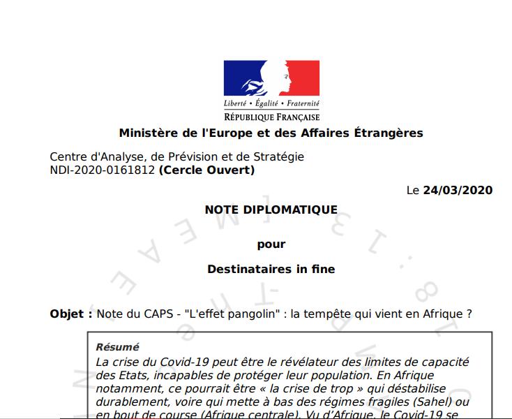La crise du covid-19 va-t-elle déstabiliser des régimes fragiles en Afrique ? (correspondance)