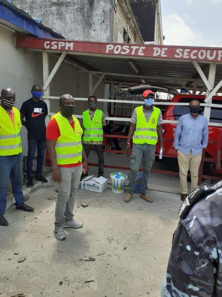 (Côte d'Ivoire Alerte Covid-19)La cellule de la   jeunesse de Cocody -Angré  en guerre contre la pandémie