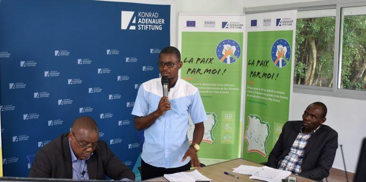 [Côte d'Ivoire Présidentielle 2020] Des jeunes formés sur la participation politique, le civisme et la cohésion sociale
