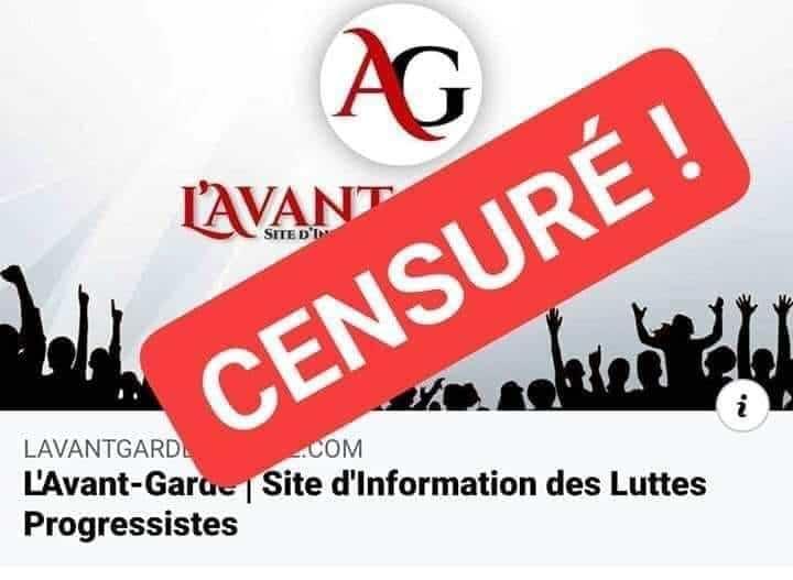 [Liberté d'expression] L'Avant-Garde Algérie de nouveau censuré (communiqué)