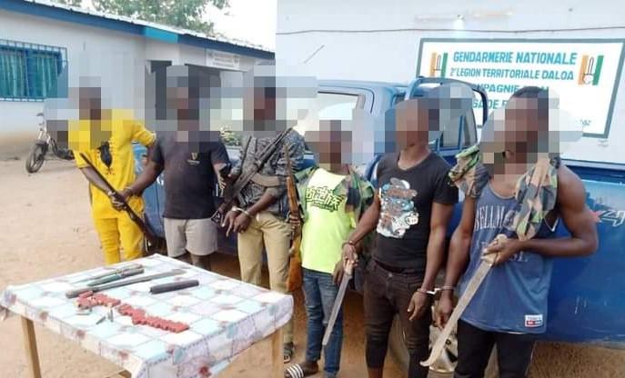[Insécurité] Six bandits interpellés avec des armes à Bangolo