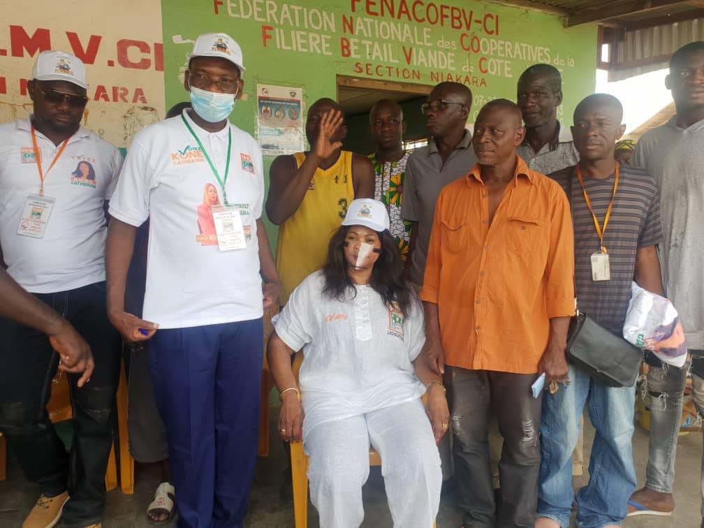 La candidate du Rhdp de Niakara, Clémentine Koné, à fond dans la campagne,  le 1er-Mars-2021 (images)