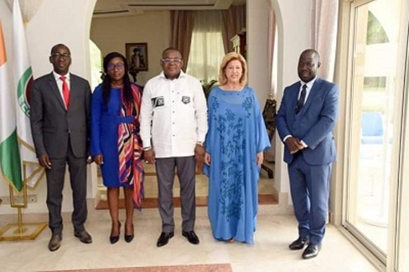 [Côte d'Ivoire] Le secrétaire d'Etat Serey Doh reçu par la Première dame