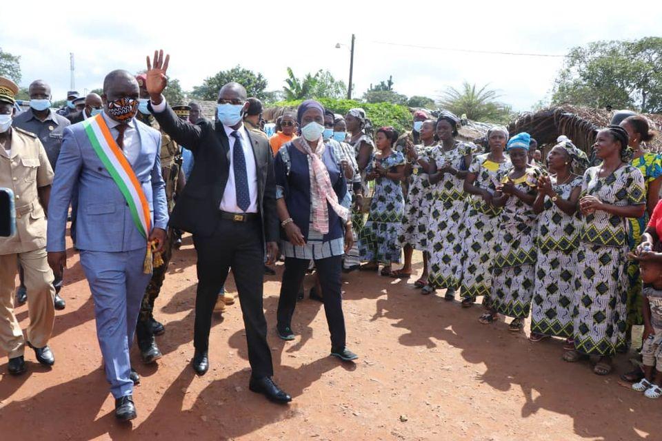 [Côte d'Ivoire Sécurité] Pourquoi le ministre Vagondo Diomandé était dans les localités frontalières de l'Ouest du pays