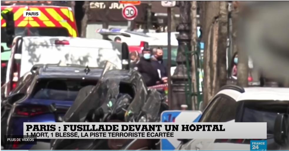 Fusillade devant l'hôpital Henry Dunant à Paris